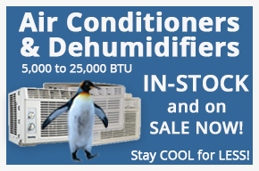 Air Conditioner & Dehumidifiers 5,000 to 25,000 BTU from $97