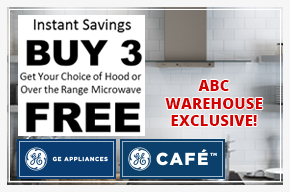 GE & GE Cafe Buy 3 Get Your Choice of Hood or Over The Range Microwave