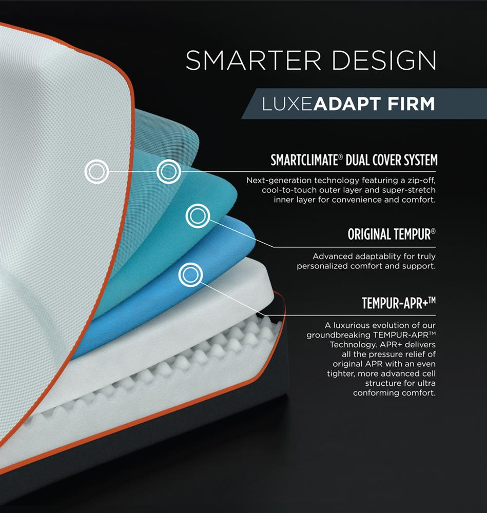 Tempur Pedic LuxeAdapt Firm Benefits