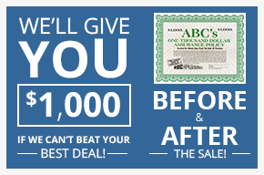 We'll Give You $1,000 If We Can't Beat Your Best Deal; Before & After The Sale!