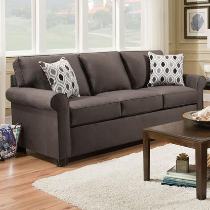 Picture of SIMMONS UPHOLSTERY 1530-QUEEN-SLEEPER-SOFA-SMOKE