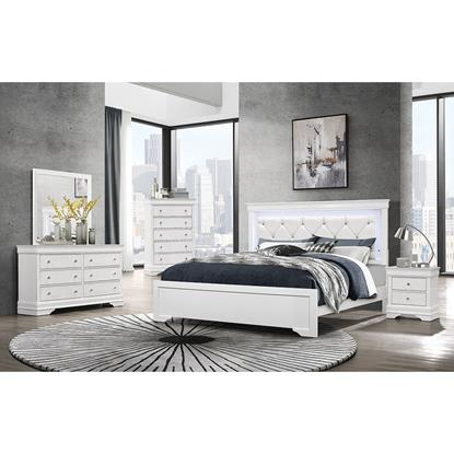 Picture of GLOBAL POMPEI-WHITE-6PC-KING-BEDROOM